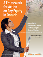 a framework for action on pay equity in ontario