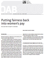 putting fairness back into womens pay